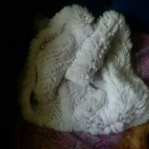 Adrenne Landau Fur long scarf